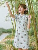 古風夏季連身裙旗袍