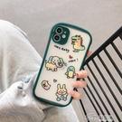 蘋果系列 瑩彩可愛卡通適用蘋果手機殼硬殼硅膠保護套超薄創意攝像頭全包潮 好樂匯