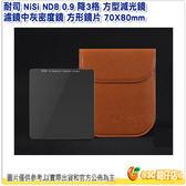耐司 NiSi ND8 0.9 降3格 中灰鏡 方型減光鏡 濾鏡中灰密度鏡 方形鏡片 70X80mm