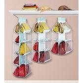 掛袋 牛津布皮包包手袋收納衣櫥柜懸掛式透明整理袋多層門後掛包袋 俏女孩