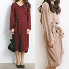 (現貨)簡約V領針織連身裙洋裝-5色【U...
