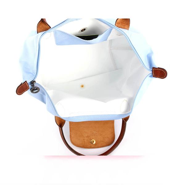 【LONGCHAMP】M號短把 摺疊水餃包 3D系列 (迷霧藍)1623089A30