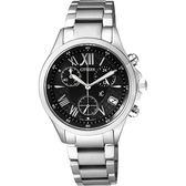亞洲限定版 CITIZEN xC 光動能羅馬戀人計時腕錶-黑/32mm FB1400-78E