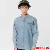 BOBSON 男款水洗牛仔襯衫 (37002-53)