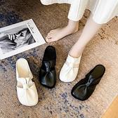 大碼穆勒鞋41-43腳寬胖妹妹40軟皮包頭半拖鞋女懶人涼拖單鞋【慢客生活】