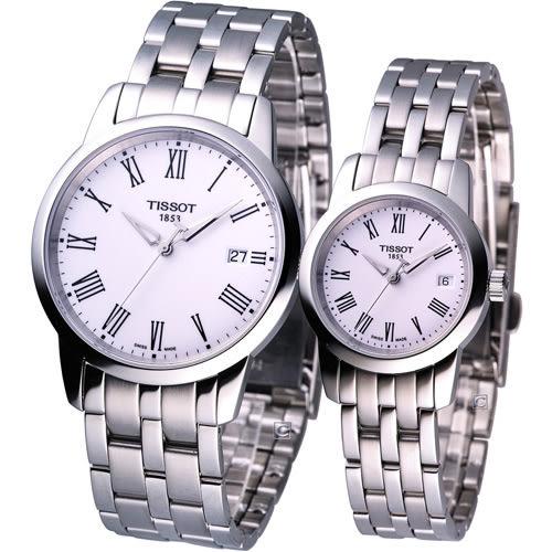 天梭 TISSOT Classic Dream 經典時尚對錶 T0334101101301 T0332101101300