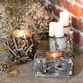 酥油燈座  風燈 燈籠 ZAKKA裝飾原木白樺樹皮天然原生態十月週年慶購598享85折
