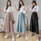 VK精品服飾 韓國風時尚單品氣質雪紡蝴蝶結單品長版裙褲