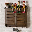 復古手工繪畫做舊百葉電表箱遮擋箱裝飾盒壁...