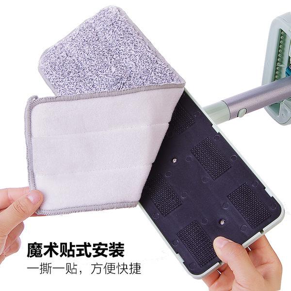 平板拖把替換布免手洗拖布頭粘貼式地板拖把頭加厚家用平拖配件