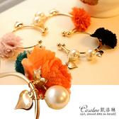 《Caroline》★【願望】愛心 珍珠 雪纺花朵手鐲.典雅設計優雅時尚品味流行時尚手鍊66466