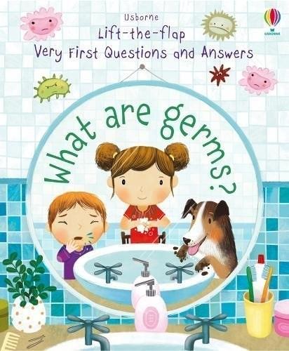 【關於細菌..孩子的健康概念書】WHAT ARE GERMS/VERY FIRST QUESTIONS AND ANSWERS /硬頁翻翻書