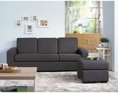 【新北大】✪ R145-2 深灰色小巧多功能沙發/L型布沙發-18購