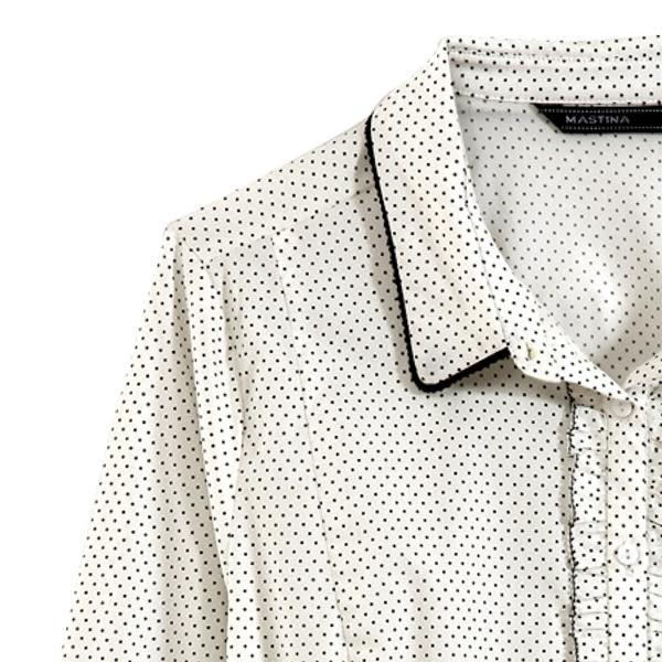 【MASTINA】清新小圓點襯衫-白 0524