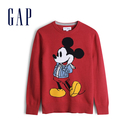 Gap 男童 Gap x Disney 迪士尼系列米奇棉質圓領針織衫 525059-摩登紅色