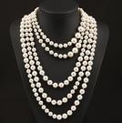 【找到自己】春節服裝配飾歐美大牌奢華韓國複古珍珠多層誇張長款鎖骨項鏈女