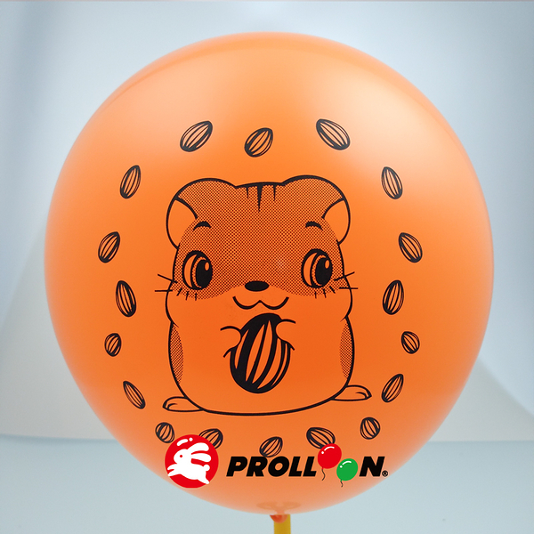 【大倫氣球】9吋橢圓形 卡通無版權印刷氣球 小包裝 20入裝 Screen Printing Balloons 台灣製造