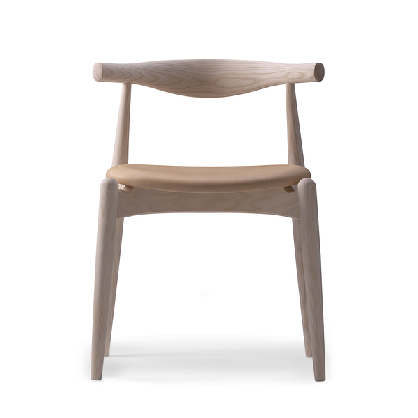 Carl Hansen & Son CH 20 Elbow Chair with Soap Finish 手肘椅 皂裝款(原色皮革 / 原色橡木)