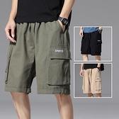 夏季工裝短褲男士薄款INS潮牌5分余文樂寬松休閑外穿五分褲子中褲