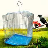 鳥籠 虎皮鸚鵡鳥籠大號不銹鋼色電鍍鳥籠子八哥鷯哥畫眉玄鳳牡丹養殖籠   數碼人生