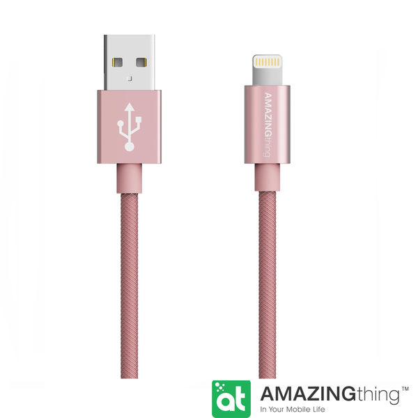 AmazingThing Apple Lightning 原廠認証傳輸線(MFi 認證)(1M)