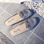 穆勒鞋單鞋女外穿休閒流蘇無后跟穆勒平底半拖鞋包頭涼拖【少女顏究院】