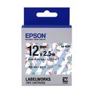 EPSON LK-4LBY C53S654449 Kitty系列畫家款藍底黑字標籤帶 寬度12mm