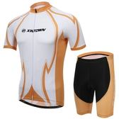 自行車衣-(短袖套裝)-舒適吸濕排汗透氣男單車服套裝73er34[時尚巴黎]