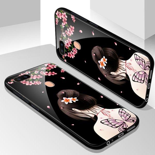 OPPO R11S Plus 手機殼 鋼化玻璃全包防摔保護套 玻璃殼送同款螢幕保護貼 軟邊保護殼 R11S+ R11Splus