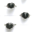 『晶鑽水晶』天然綠髮晶戒指 鍍銀 約10mm 心型 招財 加強果斷力與自信心 水晶對戒 送禮自用