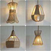 麻繩吊燈復古創意工業風咖啡廳繩燈吧台服裝店餐廳個性美式鄉村燈
