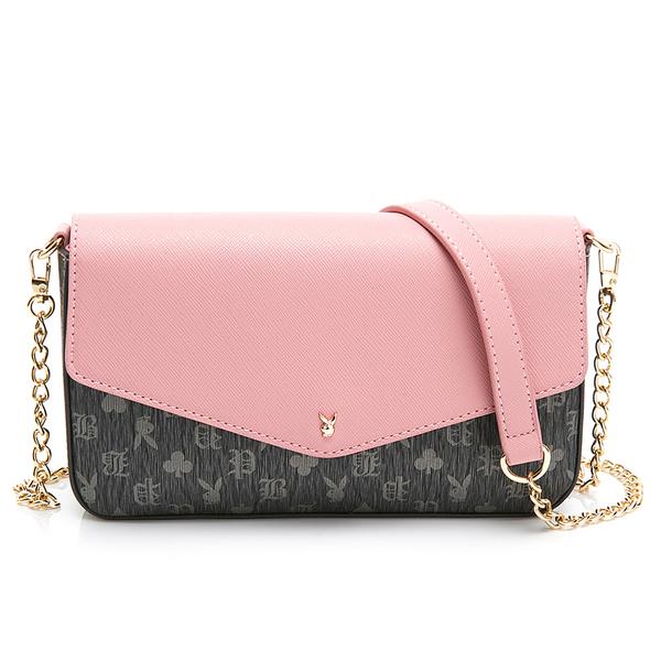 PLAYBOY-  鏈袋斜背小包三件組系列 -粉色