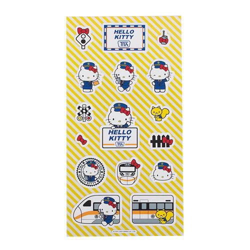 《Sanrio》HELLO KITTY*台鐵太魯閣號-站長貼紙(A款)★funbox生活用品★ RD00378