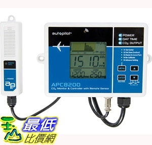 [7美國直購] 二氧化碳監測儀 Autopilot APC8200 CO2 Monitor Controller with 15 Foot Remote Sensor, Blue
