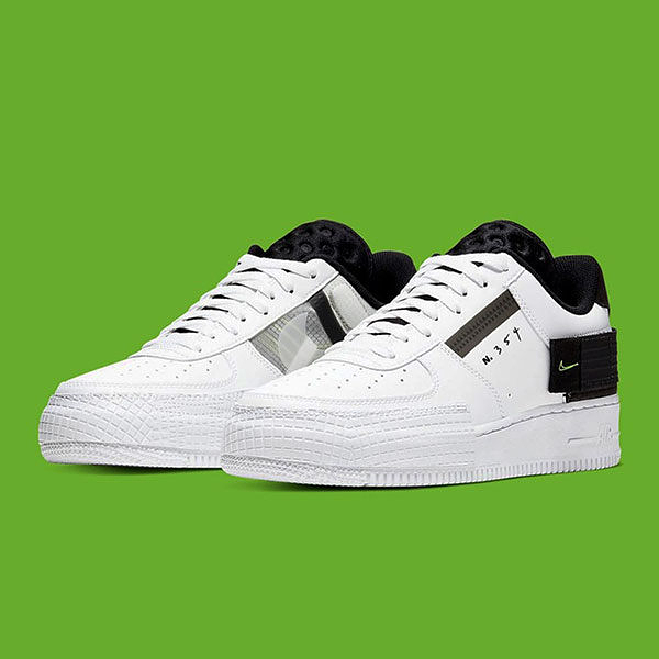 ISNEAKERS Nike Air Force 1 type 休閒鞋 AF-1 白黑 AT7859-101