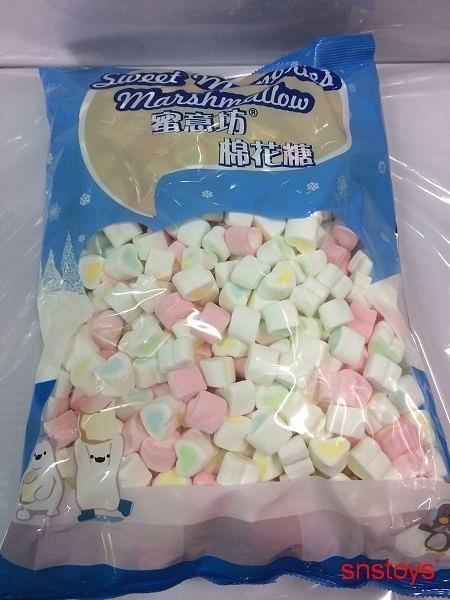 sns 古早味 懷舊零食 棉花糖 小愛心棉花糖 愛心棉花糖 心心棉花糖 1公斤直徑2.2cm