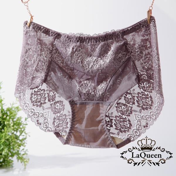 LaQueen 獨家柔軟100%蠶絲小褲(1802 紫芋)