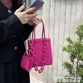 子母包小眾包包火龍果側背小方包2021新款亞克力鏈條洋氣手提斜背子母包迷你 迷你屋 新品