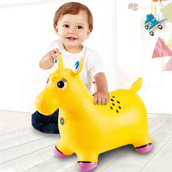 超彈力 充氣 動感音樂炫光跳跳馬 騎乘玩具 (任選二色)