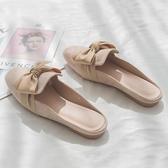 半拖鞋2020秋季新款網紅少女心無后跟懶人包頭半拖鞋女外穿時尚百搭平底 新年禮物
