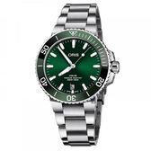 Oris Aquis 專業潛水300米日期機械錶 (0173377324157-0782105PEB)綠水鬼/39mm