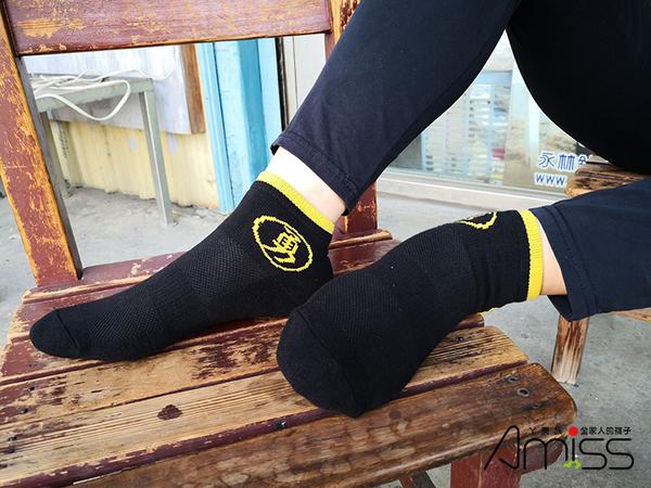 AMISS 【厚底純棉】 勇字1/4機能運動襪 台製現貨 氣墊襪 白沙屯襪 白沙屯媽祖 勇字襪 1/4短襪