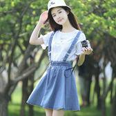 a字蓬蓬裙吊帶連衣裙短裙女裝