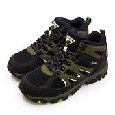 LIKA夢 LOTTO 專業多功能防水郊山戶外健行登山鞋 SABRE MID 3系列 黑軍綠 1255 男