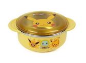 韓國 神奇寶貝 Pokémon 皮卡丘 附蓋雙耳不鏽鋼碗 隔熱設計(4808)-超級BABY