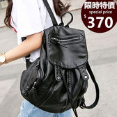 後背包-現貨販售-水洗皮時尚鉚釘多口袋後背包包-BB6812-寶來小舖