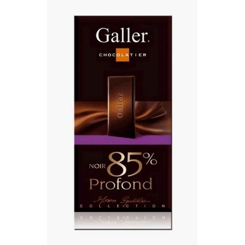 galler比利時 galler 85% 濃黑巧克力80g【愛買】