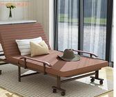 午休折疊床單人床雙人辦公室午休便攜1.2米行軍陪護午睡躺椅簡易 潮流衣舍