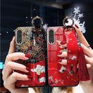 華為P30/P30 Pro 金箔滴膠手機殼 華為P20/P20Pro 流蘇手機保護套 Huawei P20/P20 Pro情侶鋼化玻璃手機套
