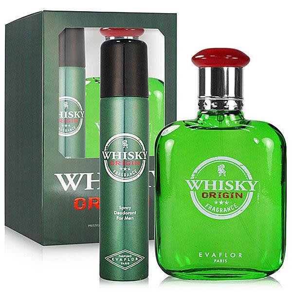 Whisky Origin 威士忌 經典 男性淡香水禮盒(男性淡香水100ML+體香噴霧 75ML)【七三七香水精品坊】
